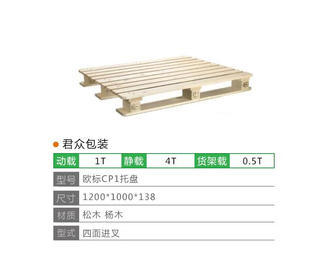 欧标CP1木托盘定制